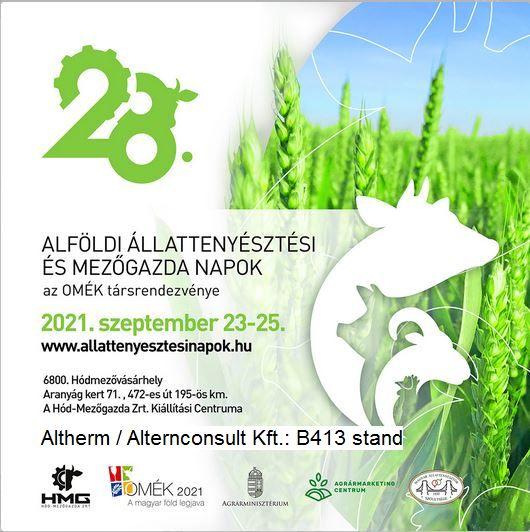 Alföldi Állattenyésztési Napok Kiállítás és vásár, Hódmezővásárhely 2021 szeptember 23-25